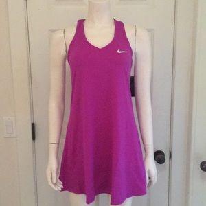 Nike Magenta Racerback Tennis Dress, NWT!